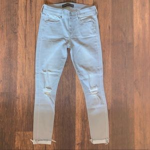 Express Gray Wash Skinny Jeans